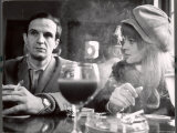 """Film Director Francois Truffaut with Actress Julie Christie During Filming of """"Fahrenheit 451"""""""