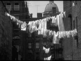 Laundry on Line in Slum Area in New York City