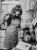 Lynn Redgrave Cooking in Her Apartment
