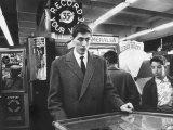 American Chess Champion Robert J Fischer Playing Pinball