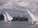 People Sailing on the Willamette River  Portland  Oregon  USA