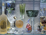 Crystal Ware in Shop  Budapest  Hungary