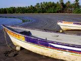Fishing Boats Moored on Sand at Morro Negrito  Panama