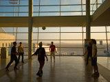 Playing Soccer at Ben Gurion Airport  Tel Aviv  Israel