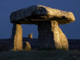 Lanyon Quoit and Tinmine Lit with Torches  Cornwall  UK