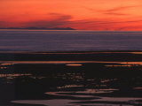 Sunset View from Walney Island Near Barrow-In-Furness Towards Isle of Man Lake District