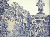 Decorative Tiles in the Cloister of Sao Vincente da Fora  Lisbon  Portugal
