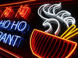 Neon Sign at Foo's Ho Ho Restaurant  Chinatown  Vancouver  Canada