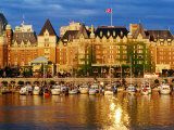 Empress Hotel with Harbour in Foreground  Victoria  Canada