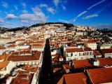 Rossio Square and Praca De Restauradores  Lisbon  Portugal