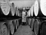 An Employee of the Knockando Whisky Distillery in Scotland  January 1972