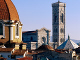 The Campanile Seen Over Rooftops  Florence  Italy