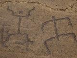 Stick Figures at Puako Petroglyphs  Kohala  Big Island  Hawaii  USA