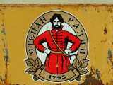 A Logo with Peter the Great Advertising Beer