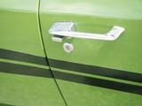 Door Handle of Green Car