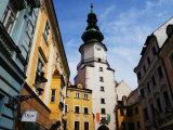 Buildings Near Michael's Tower in Old Town  Bratislava  Slovakia