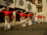 Tibetan Dancers Perform at the Chinese Ethnic Culture Park