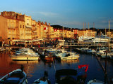 Boats and Buildings at Port  St Tropez  France