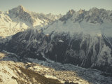 The Tourist Resort of Chamonix Sits at the Foot of the French Alps