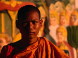 Portrait of Novice Monk  Phnom Penh  Cambodia