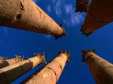 Columns at Temple of Artemis  Jerash  Jordan
