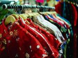 Rack of Shirts at Pearl River Trading Company  Chinatown  New York City  New York  USA