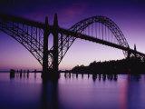 Yaquina Bay Bridge  Newport  Oregon  USA