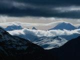 Mountains on Swiss-Italian Border  South of Livigno  Swiss NP  Engadine Valley  Zernez  Switzerland