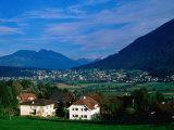 Mauren Village and Austrian Mountains  Schellenberg  Liechtenstein