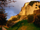 Old Hilltop Town Ramparts at Sunset  Buzet  Croatia