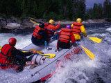 Whitewater Rafting on Valan  Jamtland  Sweden