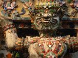 Exterior Detail of Temple of Dawn Bangkok  Thailand