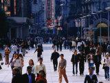 Shopping District of Nanjing Lu  Shanghai  China
