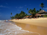 Waves Coming onto Beach and Buildings  Hikkaduwa  Sri Lanka