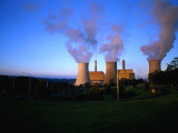 Steam Rising from Cooling Towers of Yallourn Power Station in Latrobe Valley Yallourn  Australia