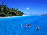 Snorkelling at One Foot Island  Aitutaki Lagoon  Cook Islands