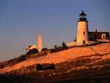 Sunset Over Pemaquid Lighthouse Built in 1827  Maine  USA