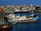 Ships in Port  Genova  Liguria  Italy