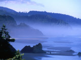 Arcadia Beach Coastline from Silver Point  Oregon  USA