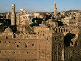 Buildings of Old Caravanassi  San'a  Yemen
