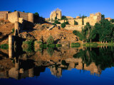 The Monastery of San Juan De Los Reyes Reflected in the River Tagus  Toledo  Spain