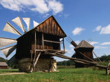 Windmill from Constanta County at Museum of Folk Civilisation in Astra  Sibiu  Romania