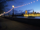 Parliament & Thames River  London  UK
