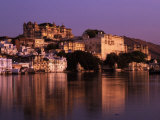 City Palace at Sunset  Udaipur  India