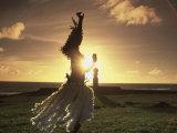 Polynesian Dancer  Ahu Tahai  Easter Island