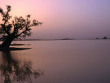 Dusk Over Lake Chad  Niger