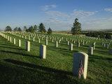 Cemetery  Little Bighorn Battlefield National Monument  Montana