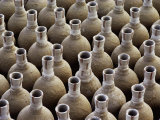 Newly-Made Clay Vases are Lined Up  Waiting to Be Baked in a Kiln