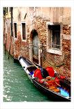 Gondola by a Brick Wall  Venice