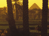 Scenic with Silhouette of Step Pyramid of Djoser